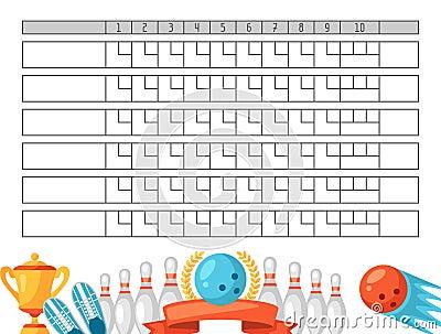 Doc550712 Bowling Score Sheet Printable Bowling Score Sheets – Bowling Score Sheet Template