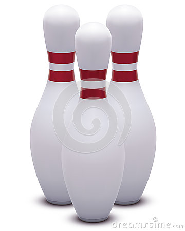 Bowling. Skittles. Vector illustration