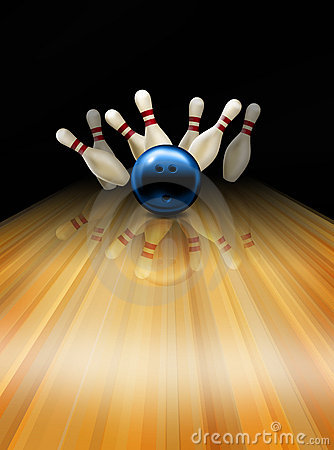 Free Bowling Strike Stock Photography - 8079992