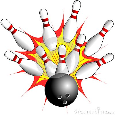 Isolated Bowling - Strike Illustration Royalty Free Stock Photography ...