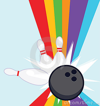 Bowling strike rainbow