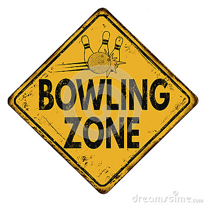 Free Bowling Zone Vintage Metal Sign Royalty Free Stock Photography - 83907427