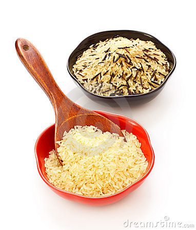 Free Bowls Of Raw Rice Royalty Free Stock Images - 18210119