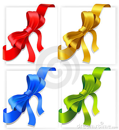 Bows of four colours