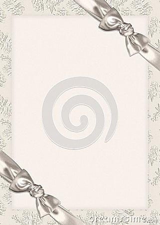 Free Bows On Wedding Invitation Stock Image - 8788291