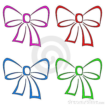 Bows, set, pictogram