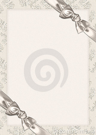 Bows on Wedding invitation
