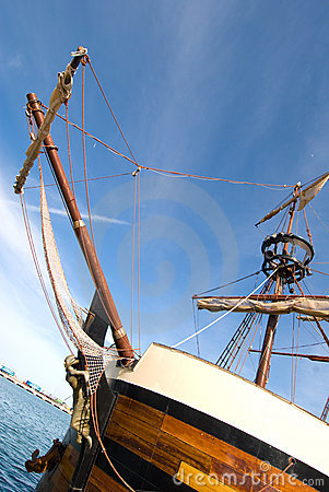 Bowsprit of pirate ship