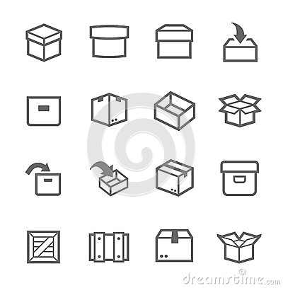 Free Box And Crates Icons Royalty Free Stock Photos - 38841768