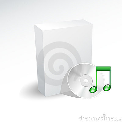 Free Box And Sound Cd , Dvd Stock Images - 10979694