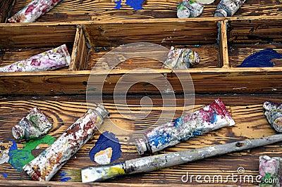 Box of Art Supplies