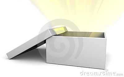 Box beaming with light