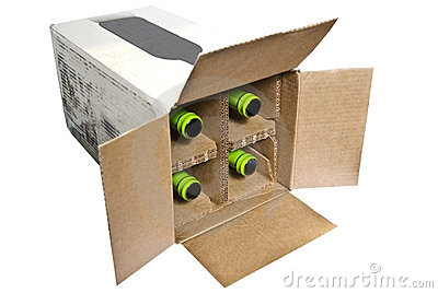 Box With Bottles In It
