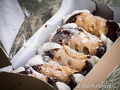Box of Cannoli Italian Filled Pasty