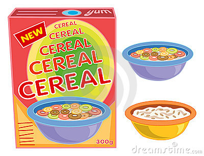 Box, cereal, bowl, porridge