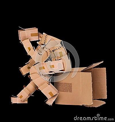 Free Box Character Deep Thinker Stock Photos - 33153963
