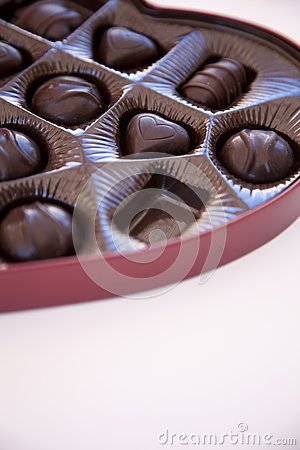 Box of chocolates with one chocolate missing