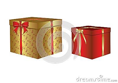 Box with a Christmas gift