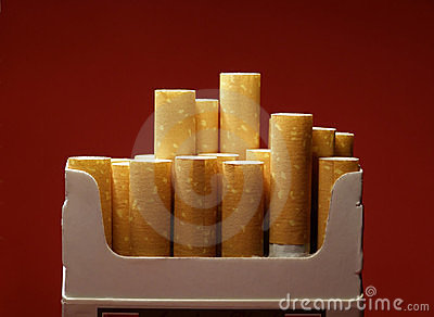 Box with cigarettes