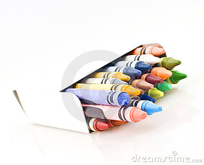 Box of Colored Crayons