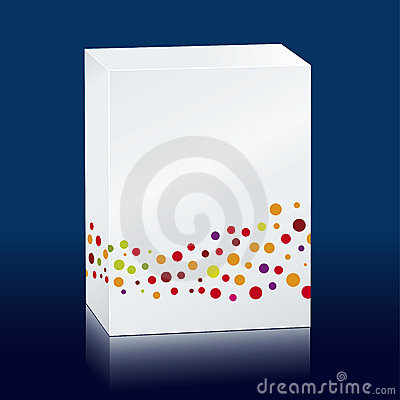 Box with colored dots
