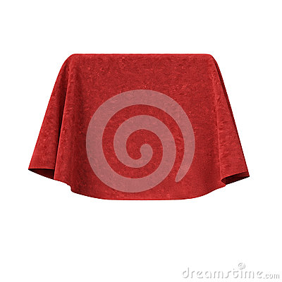 Free Box Covered With Red Velvet Fabric Stock Photo - 54900910