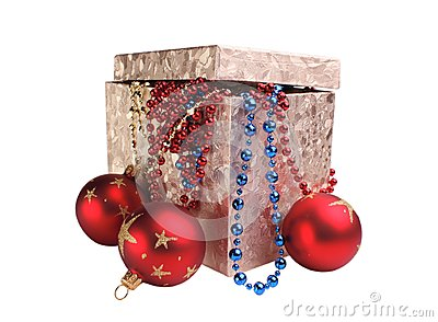 Box and decorations