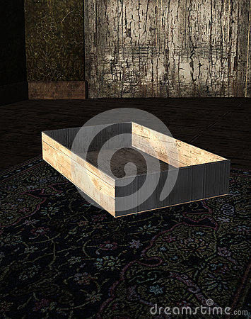 Box on the floor stock illustration image 43184795 for Wooden attic box bed