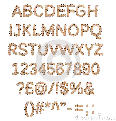 Box font alphabet