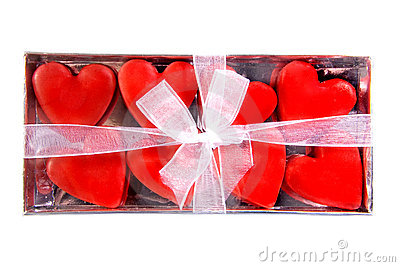 Box full of hearts