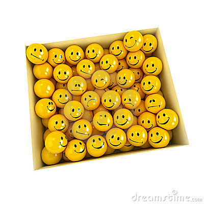 Free Box Full Of Smilies In Different Moods, Royalty Free Stock Photos - 3871618