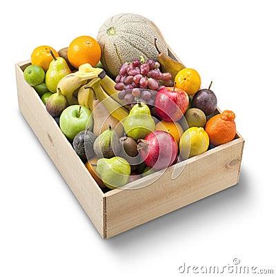Free Box Healthy Fresh Fruit Stock Photos - 33120783