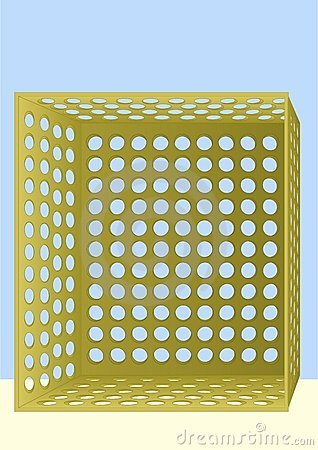 Box with holes.