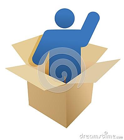 Box and icon illustration design