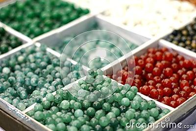 Box of jewellery beads
