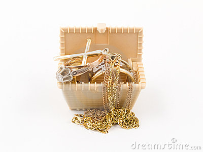 Box with jewelry
