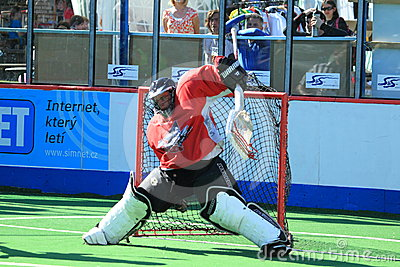 Box lacrosse goalie - Pavel Krehlik Editorial Image