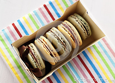 Box with macaroons