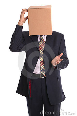 Free Box Man - Thinking Stock Photo - 3354750