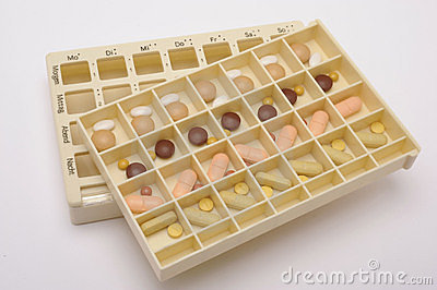box with medical pills