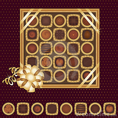 Free Box Of Chocolates With A Ribbon Royalty Free Stock Photography - 11408077