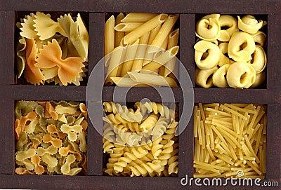 Box with pasta