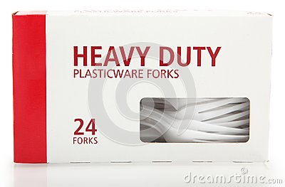 Box of Plastic Forks