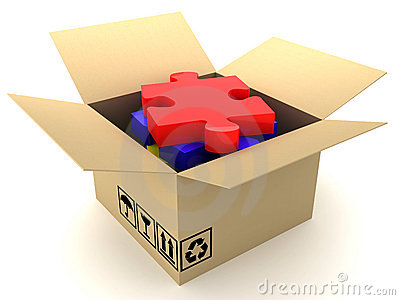 Box and puzzle
