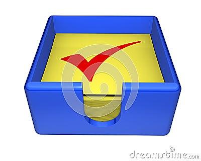 Box of Sticky Checks