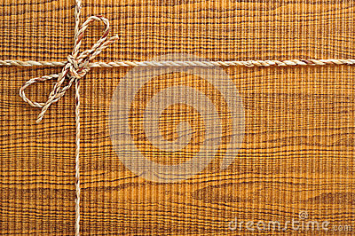 Box with string