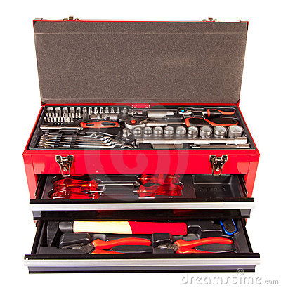 Box with the tool