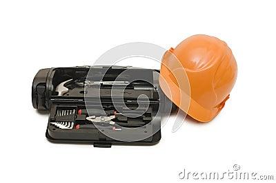 Box for tools a helmet