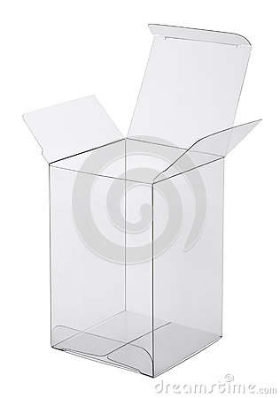 Box of transparent plastic