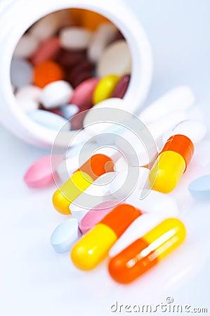 Box of vitamins